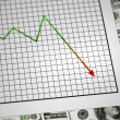 Negative Graph — Stock Photo