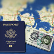Stock Photo: Passport to Denmark