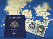 Passport to Denmark — Stock Photo