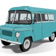 Royalty-Free Stock Vector Image: Retro mini bus