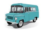 Retro mini bus — Stock Vector
