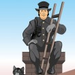 The chimney sweep — Stock Vector