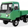 Green lorry — Stockvectorbeeld