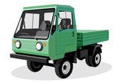 Зеленый грузовик — Cтоковый вектор