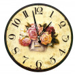 Stock Photo: Clock with roses