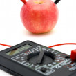 Stock Photo: Energy of red apple