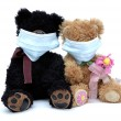 Royalty-Free Stock Photo: Teddy bears in masks