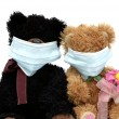Teddy bears in mask — Stock Photo