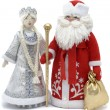 Grandfather Frost with Snowmaiden — Stock Photo #1295418
