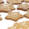 Set of gingerbread biscuits - Stock Photo