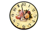 Clock with roses — Stock Photo