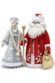 Grandfather Frost with Snowmaiden — Stock Photo