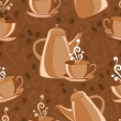Seamless background coffee theme — Stock Vector #1957033