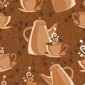 Seamless background coffee theme — Stock Vector