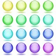 Set of glass balls icons — Vector de stock