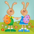Stock Photo: Easter greetings card