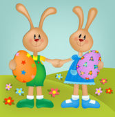 Easter greetings card — Stock Photo