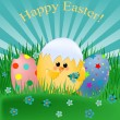 Easter greetings card - Stock Vector