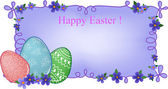 Easter banner with text field — Stock Vector