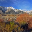 Stock Photo: Snow capped Mount Whitney Peak