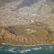 Aerial View of Oahu Honolulu Hawaii — Stock Photo