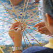 Stock Photo: Child Learning Handicrafts
