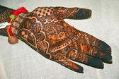 Henna Tattoo on Hands — Stock Photo