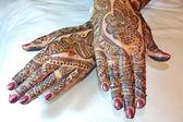 Henna Tattoo Design on Hands — Stock Photo