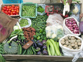 Selling Fresh Vegetables — Foto Stock