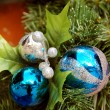 Royalty-Free Stock Photo: Christmas Decoration Textured Balls