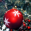 Christmas Decoration Textured Baubles — Stock Photo #1300250