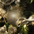Christmas Decoration Textured Baubles — Stock Photo #1300253