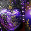 Christmas Decoration Textured Baubles — Stock Photo #1304624
