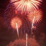 Fireworks lighting — Stock Photo