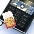Cellphone sim card — Stock Photo