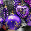 Christmas Decoration Textured Baubles — Stock Photo #1313989