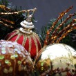 Christmas Decoration Textured Baubles — Stock Photo #1314038