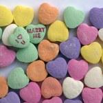 miłość serca cukierków — Zdjęcie stockowe