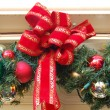 Christmas Decoration Balls and Ribbon — Stock Photo