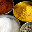 Stock Photo: MasalAssorted Condiments and Spices Bo