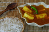 Comida india paneer con arroz — Foto de Stock