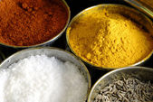 Masala Assorted Condiments and Spices Bo — Stock Photo
