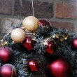 Christmas Decoration Textured Baubles — Stock Photo #1327050