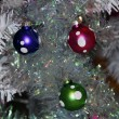 Christmas Decoration Textured Baubles - Stock Photo