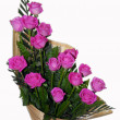 Stock Photo: Pink Rose Flower Bouquet Ikebana