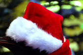 Red Christmas Santaclaus cap — Stock Photo