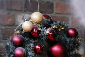 Christmas Decoration Textured Baubles — Stockfoto