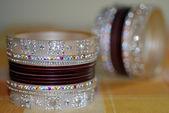 Colorful Bridal Ornament Bangles — Stock Photo