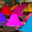 Color powder for Holi Festival - Stock Photo