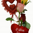 Valentine Rose Flower heart Gift — Stock Photo